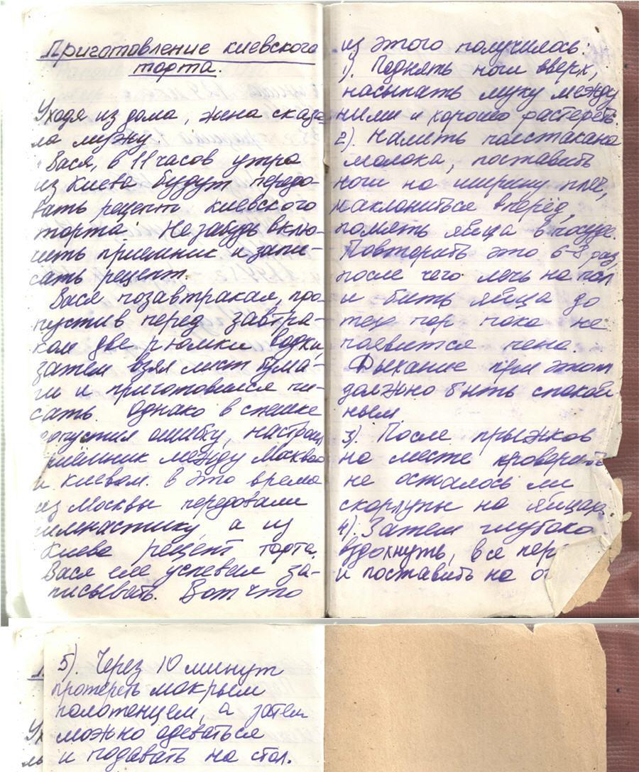 Киевский торт. Интернет-посиделки у Шонина