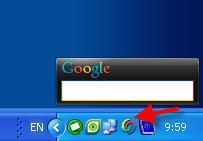 Настройки боковой панели Google Desktop