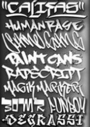 Шрифты в стиле граффити. Интернет-посиделки